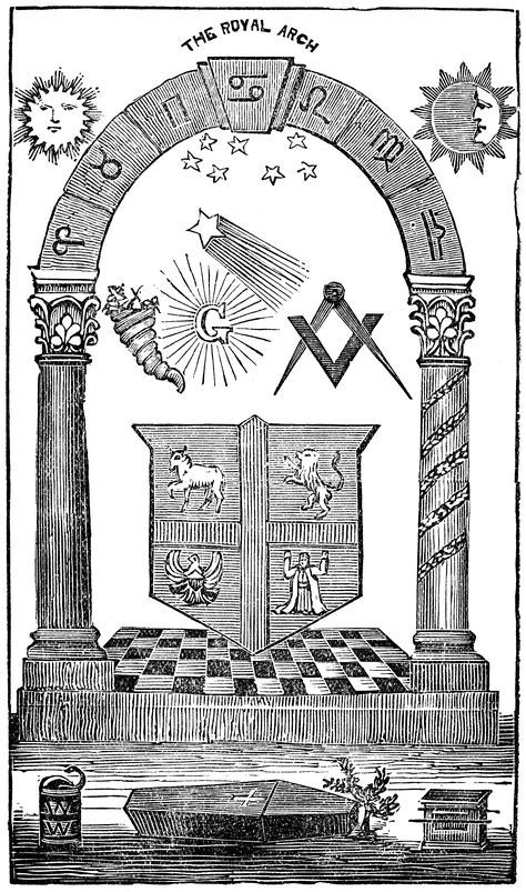 The Royal Arch tracing board