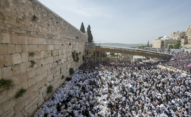 crowded Wailing Wall