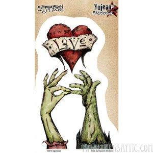 Zombie Hand Kiss Sticker