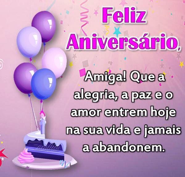 Feliz aniversário para amiga com paz, amor e alegria