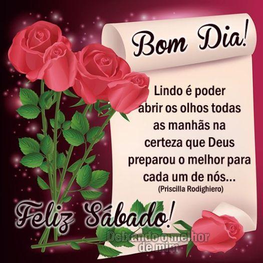 Feliz sábado com rosas