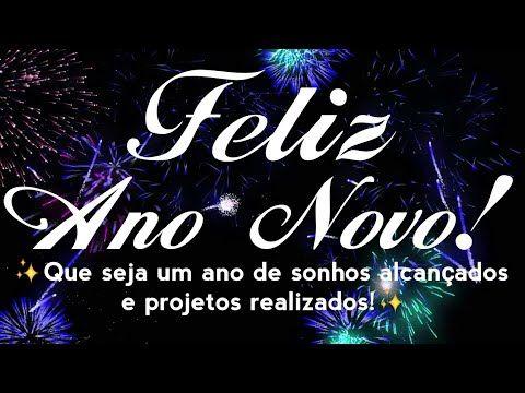 Feliz ano novo de sonhos alcançados e projetos realizados