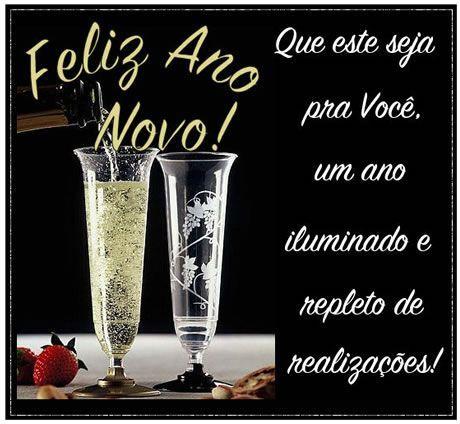 Feliz ano novo, iluminado e repleto de realizações