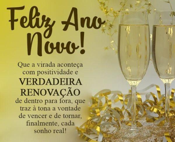Feliz ano novo com a verdadeira renovação