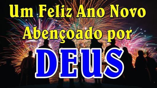 Feliz ano novo abençoado por Deus