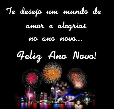 Feliz ano novo com fogos