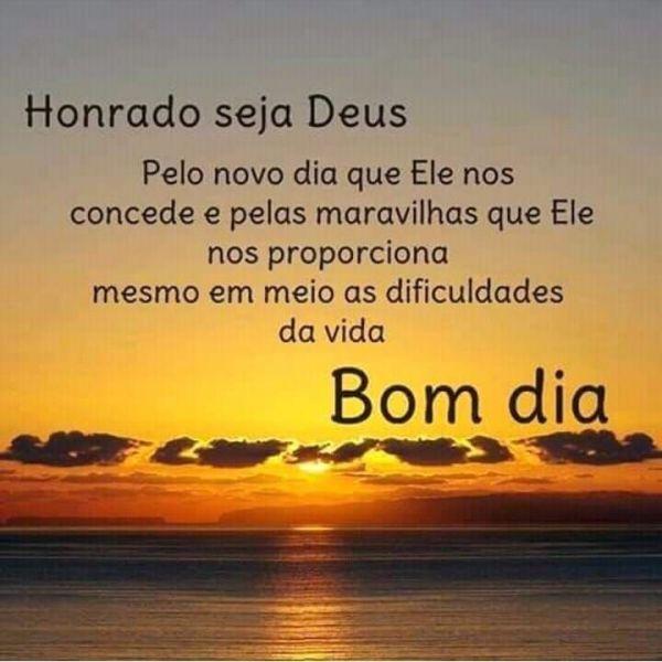 A gratidão a Deus faz nosso dia melhor. Bom dia!