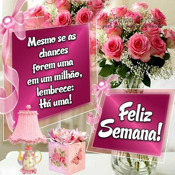 Feliz semana com rosas
