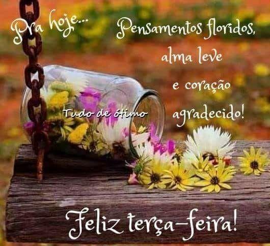 Pensamentos floridos, bom dia terça