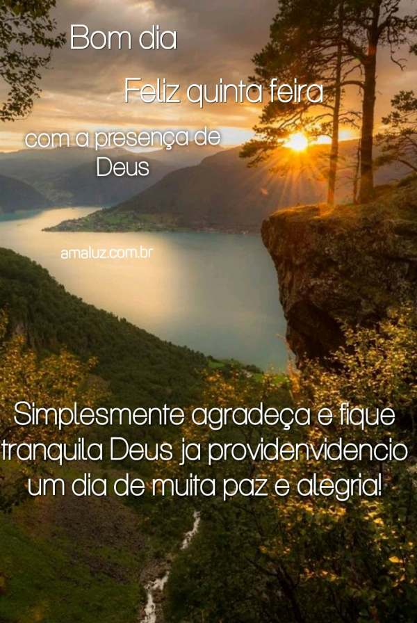 bom dia feliz com a presença de Deus