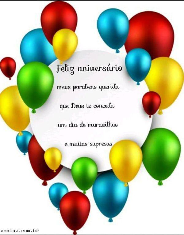 feliz aniversário querida