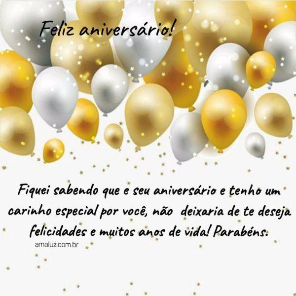 felicidades e muitos anos de vida feliz aniversário