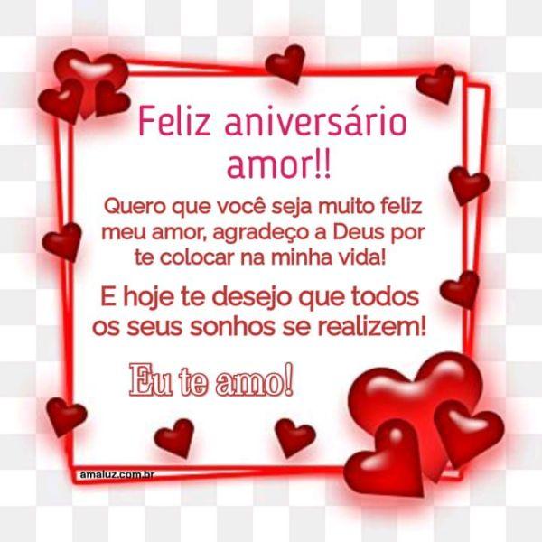 Feliz aniversário agradeço a Deus por colocar você na minha vida.