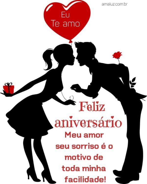 Feliz aniversário meu amor seu sorriso e o motivo de toda minha felicidade