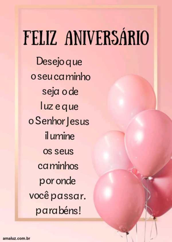 Feliz aniversário que Deus ilumine seus passos