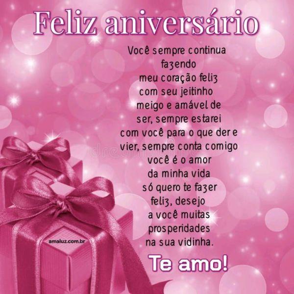 Você sempre me faz feliz te amo e feliz aniversário