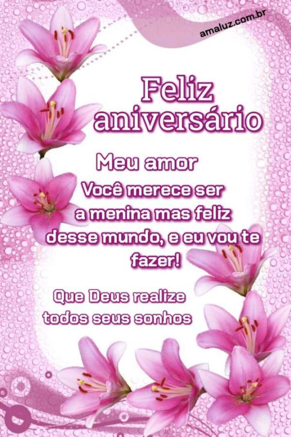 Feliz aniversário meu amor vou te fazer muito feliz