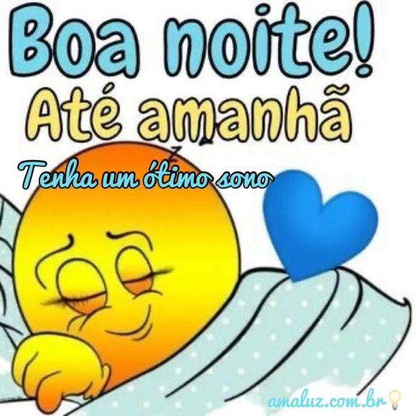 boa noite ate amanhã ótimo sono