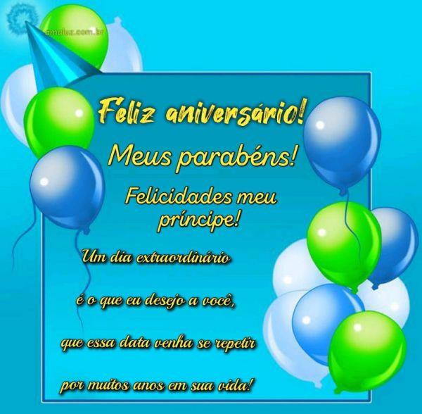 feliz aniversario parabéns felicidades meu princípe