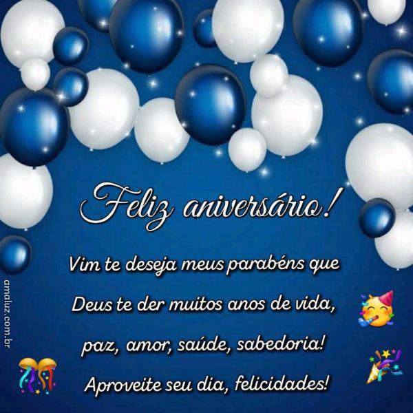feliz aniversario vim te deseja meus parabéns