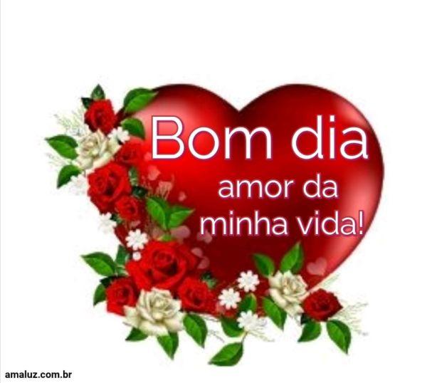 Bom dia amor da minha vida te amo