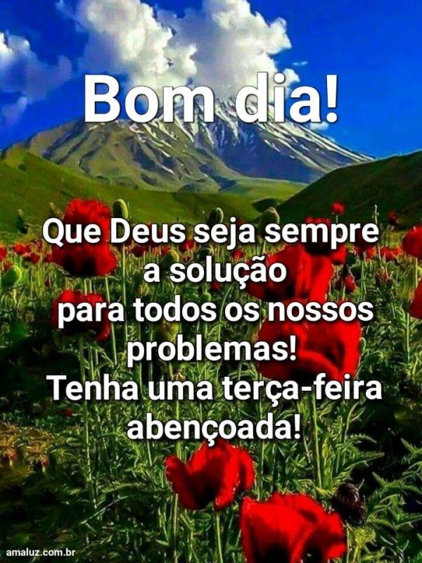 Deus e a solução da problemas bom dia