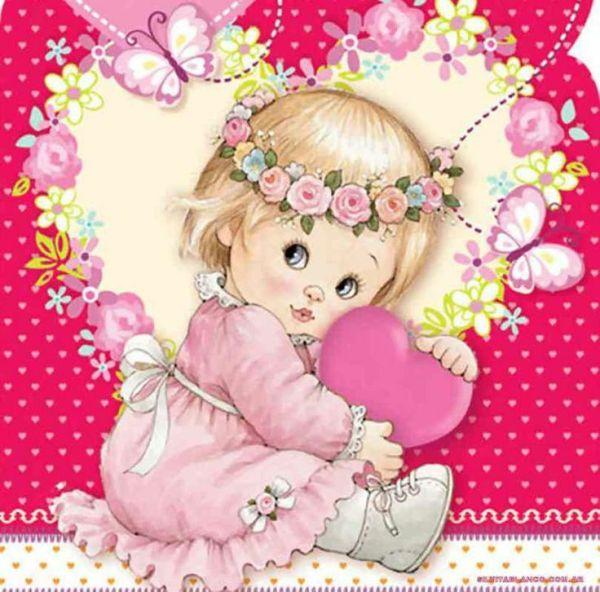 bebe anjinhos feminina com coração