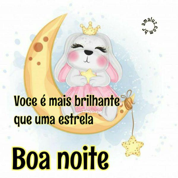 boa noite você é mais brilhante que uma estrela