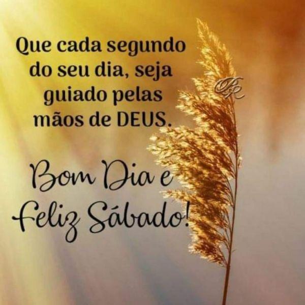 bom dia tenha um feliz sábado guiado pelas mãos de deus