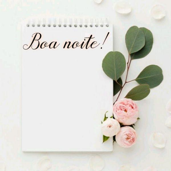 caderninho flor e boa noite