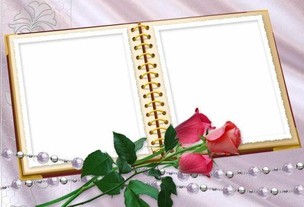 imagem com caderno e flor