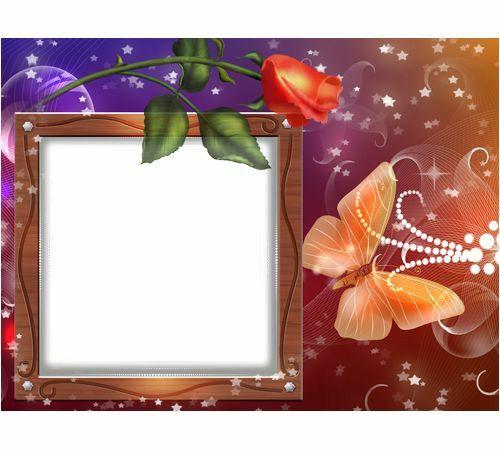 imagems com quadro flor e borboleta