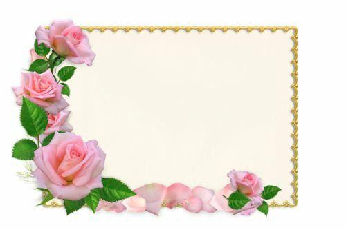 moldura retangula cheia de flores bonitas