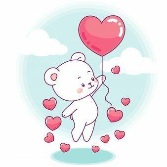 ursinho com corações