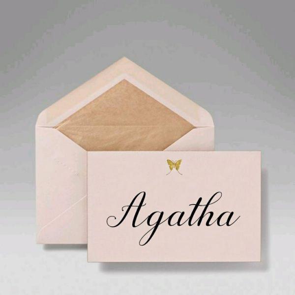 Agatha tenha esse nome que você tem tudo que repaz força