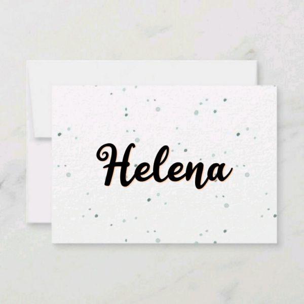 Helena um nome delicado e linda para uma pequena bebê