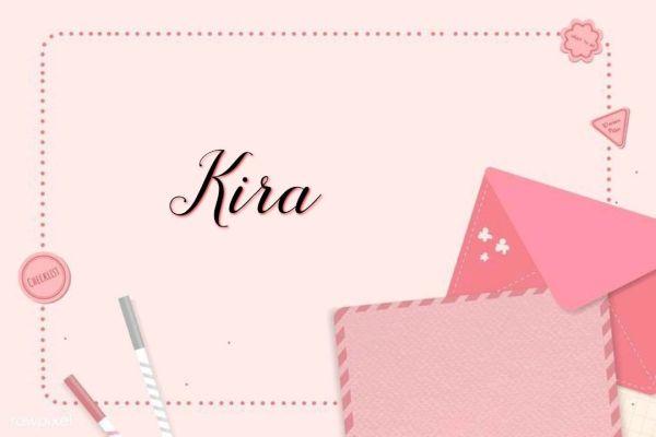 Kira nome para bebês meninas