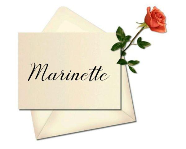 Marinette nome lindo de personagens