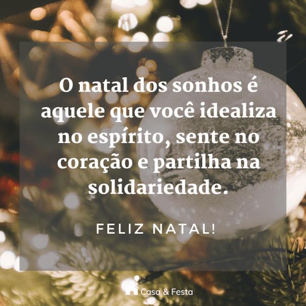 Natal dos sonhos é aquele que idealiza no espírito