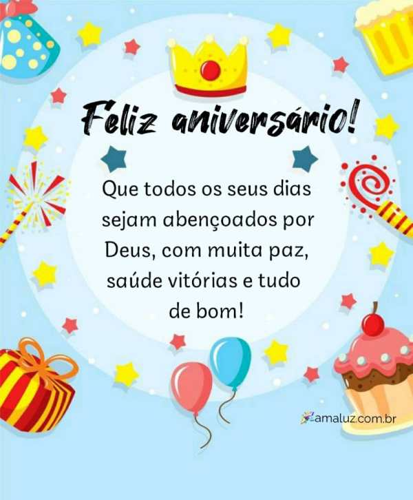 feliz aniversario que todos os seus dias sejam abençoados por Deus