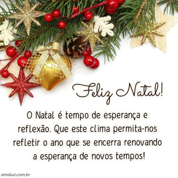 o natal é tempo de esperança e reflexão feliz natal a todos