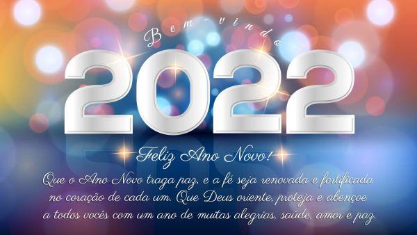 seja bem vindo ano novo de 2022 em nossas vidas