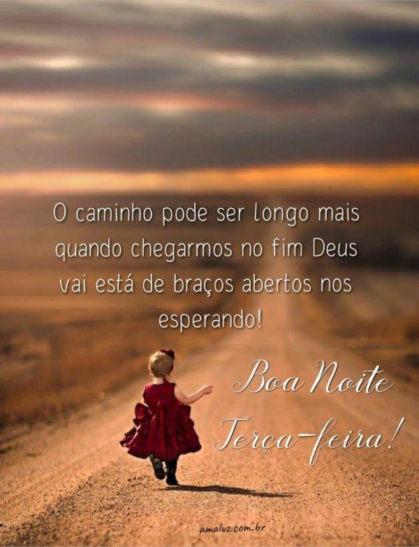 o caminho pode ser longo mais Deus nos espera de braços abertos