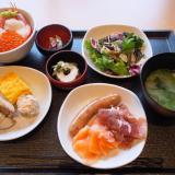 鳥取県境港市「御宿野乃」朝食バイキングがすご~い豪華!朝からイクラもかけちゃうよ♪
