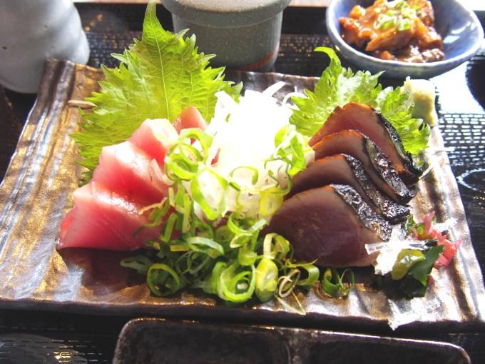 鰹の刺身タタキ定食2
