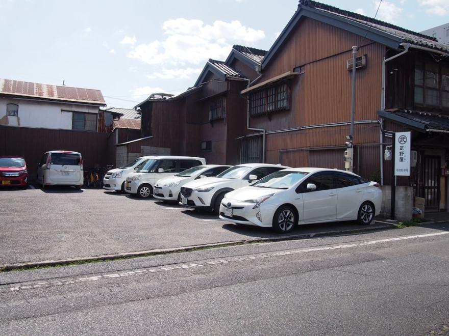 トラットリア武野屋 駐車場