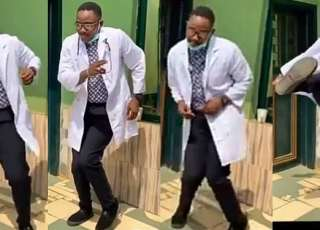 Dr. Tolu showing off his dance skills