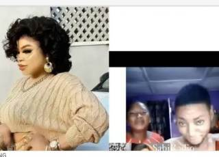 """Poverty Is A Bastard.""Reactions As Nigerian Mum Begs Bobrisky To Notice Her Son Who Has His Tattoo On His Body(Video)"