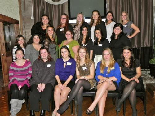 The alumni in attendance - unfortunately, a lot of ladies couldn't make it :(