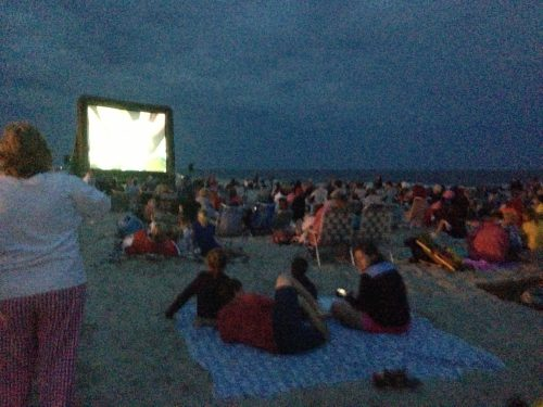 Movie on the beach!